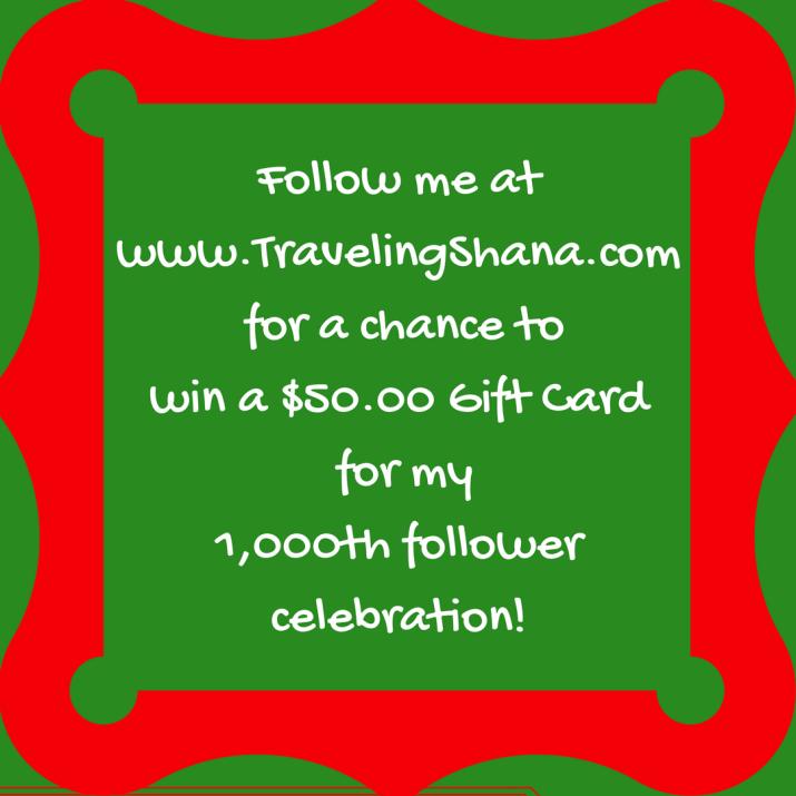 1,000 Blog Follower Celebration!
