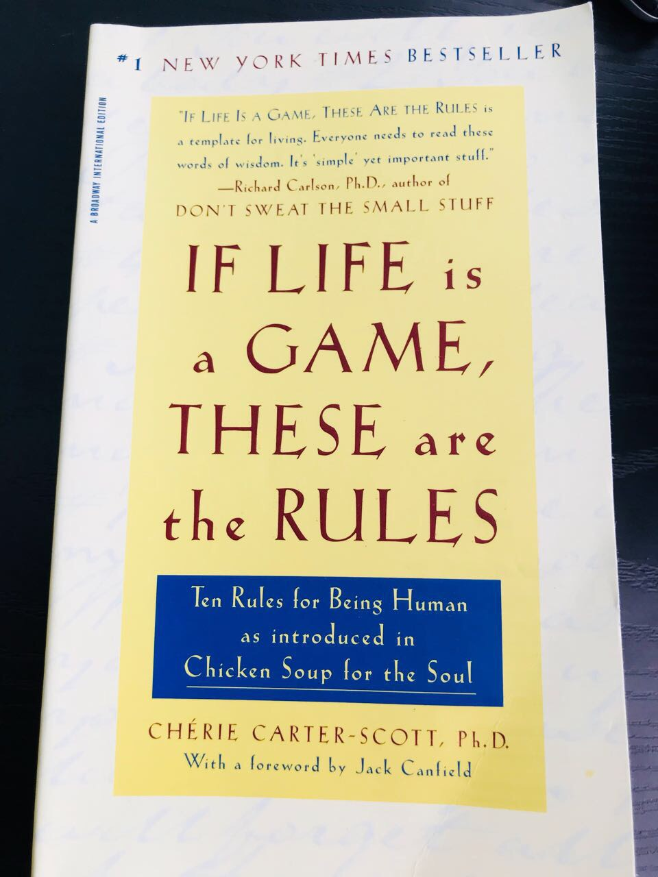 Book Review – If Life is a Game, These are the Rules!