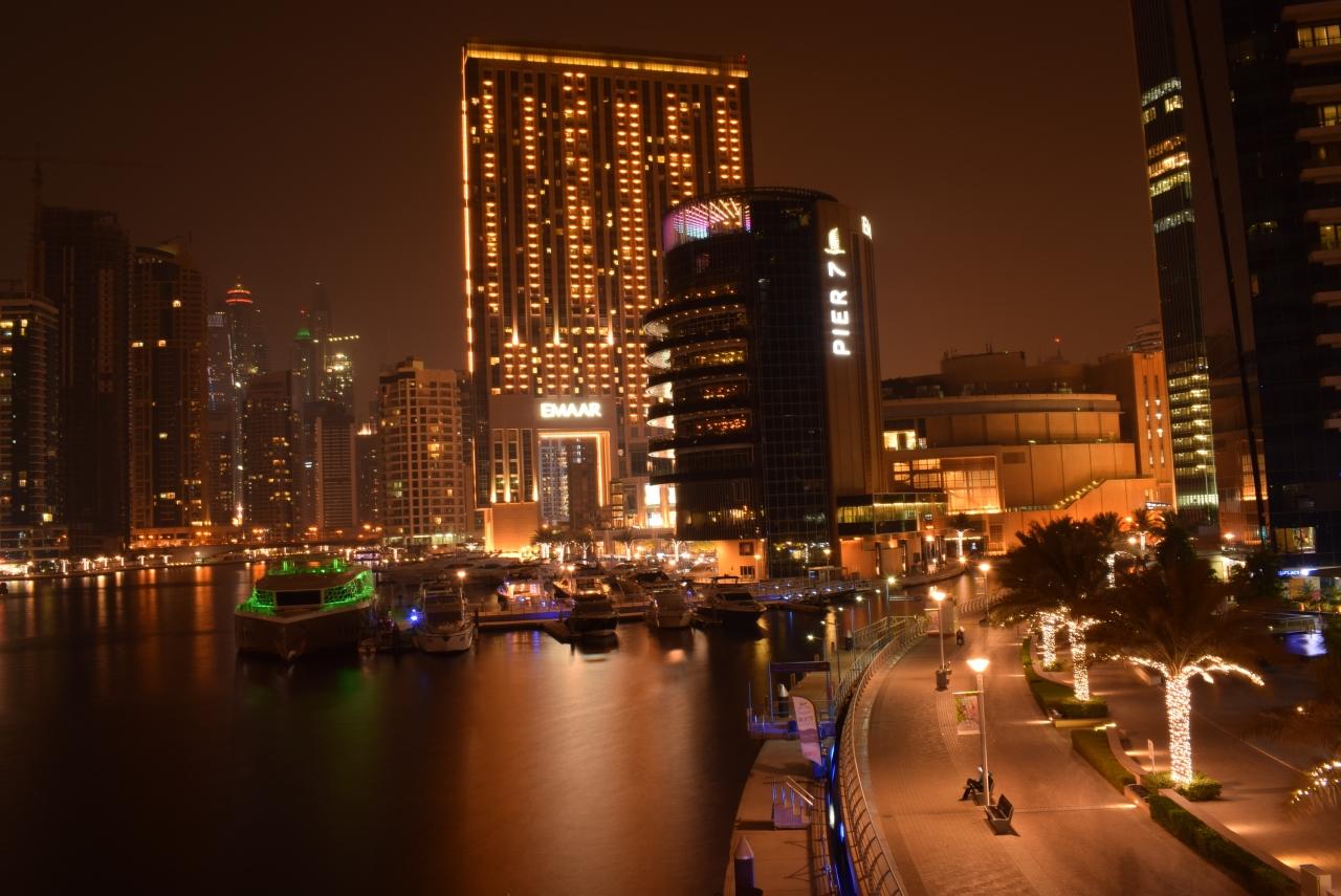 Dubai Marina Skyline At Night And My First Long ExposurePhotography